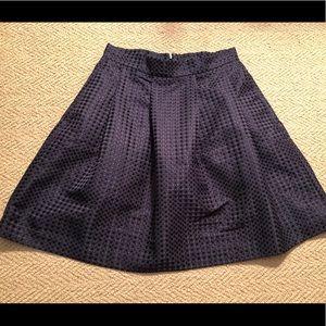 Ann Taylor Navy Polka Dot Skirt Size 6